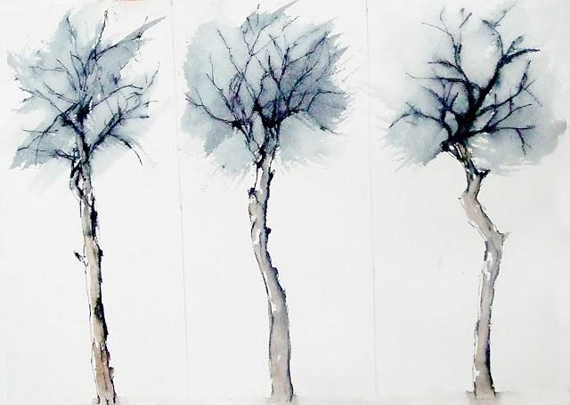 """study"" original fine art by Mitsuru Cope"