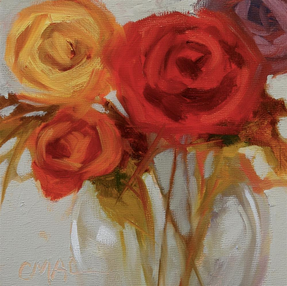 """Roses are Red"" original fine art by Carolyn McDonald"