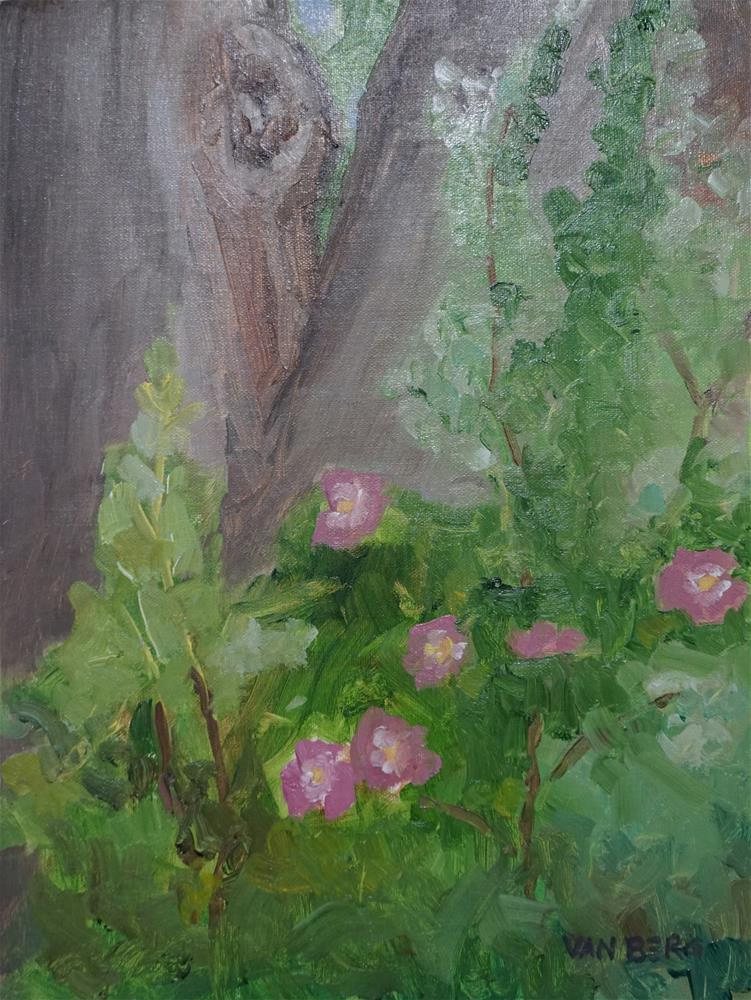 """Littleton Wild Roses"" original fine art by Catherine Van Berg"
