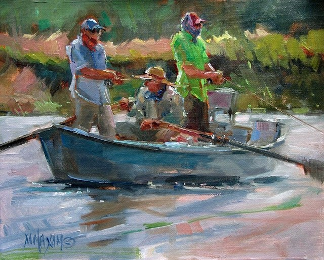 """River Color"" original fine art by Mary Maxam"