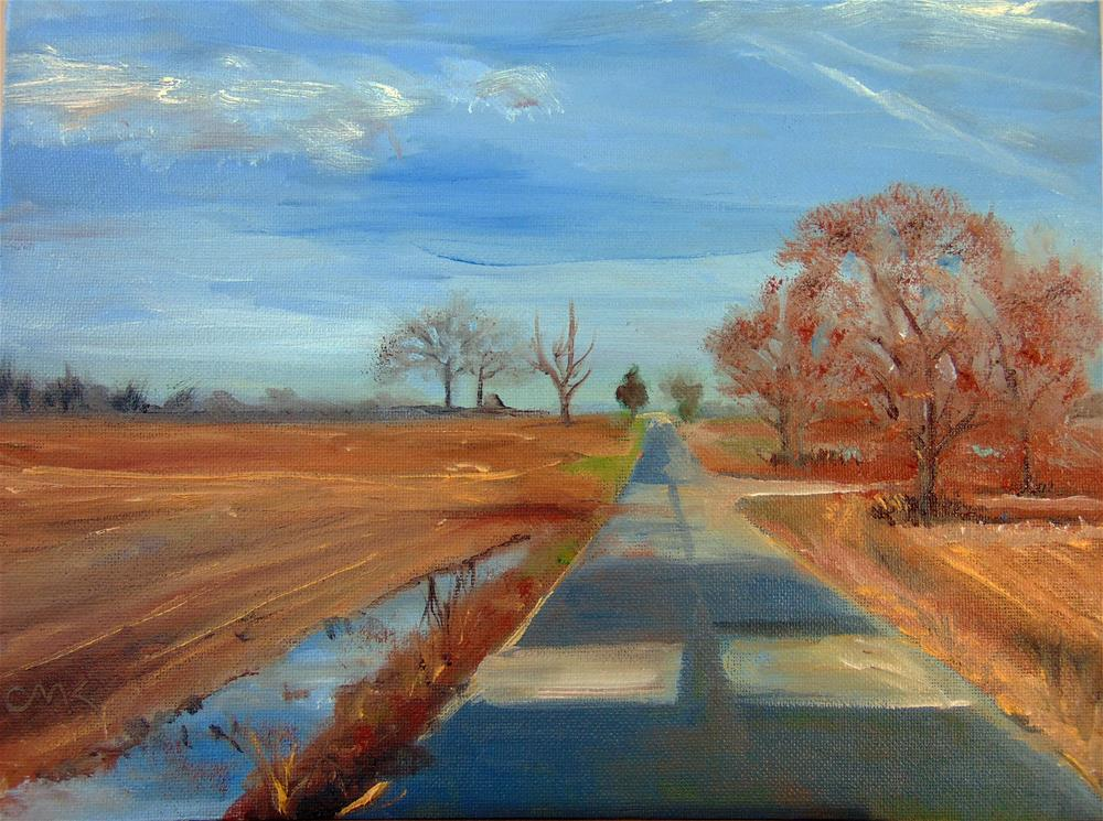 """Patched Road"" original fine art by Catherine Kauffman"