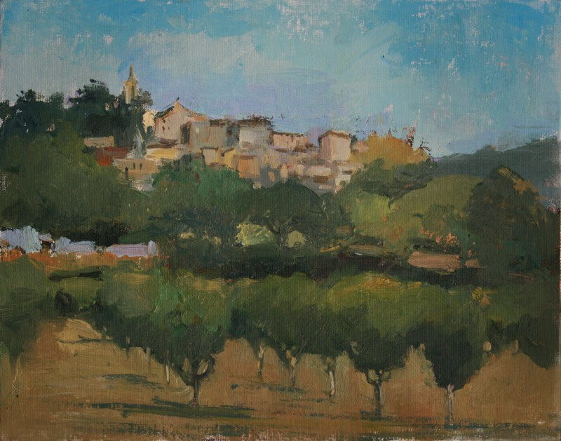 """Thirty paintings in 30 days #4 Bonnieux"" original fine art by Julie Snyder"