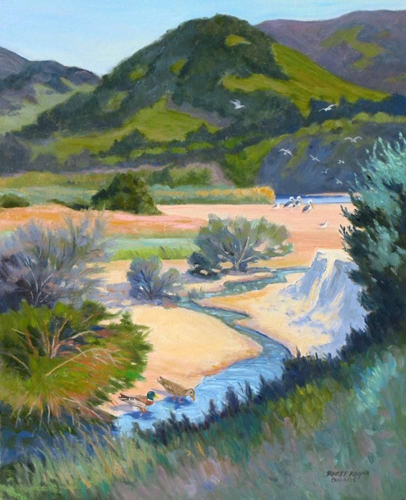"""Rest Stop at the Carmel River"" original fine art by Rhett Regina Owings"