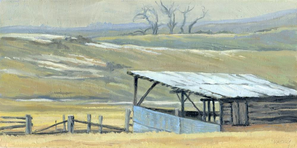"""Horse Shed"" original fine art by Kath Reilly"