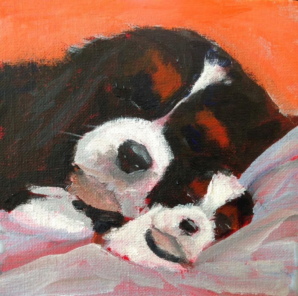 """Mother's Comfort, 6x6 inch Acrylic by Kelley MacDonald"" original fine art by Kelley MacDonald"