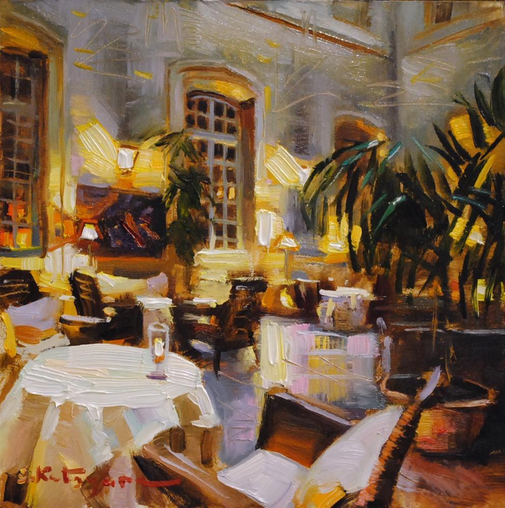 """Awaiting The Guests"" original fine art by Elena Katsyura"
