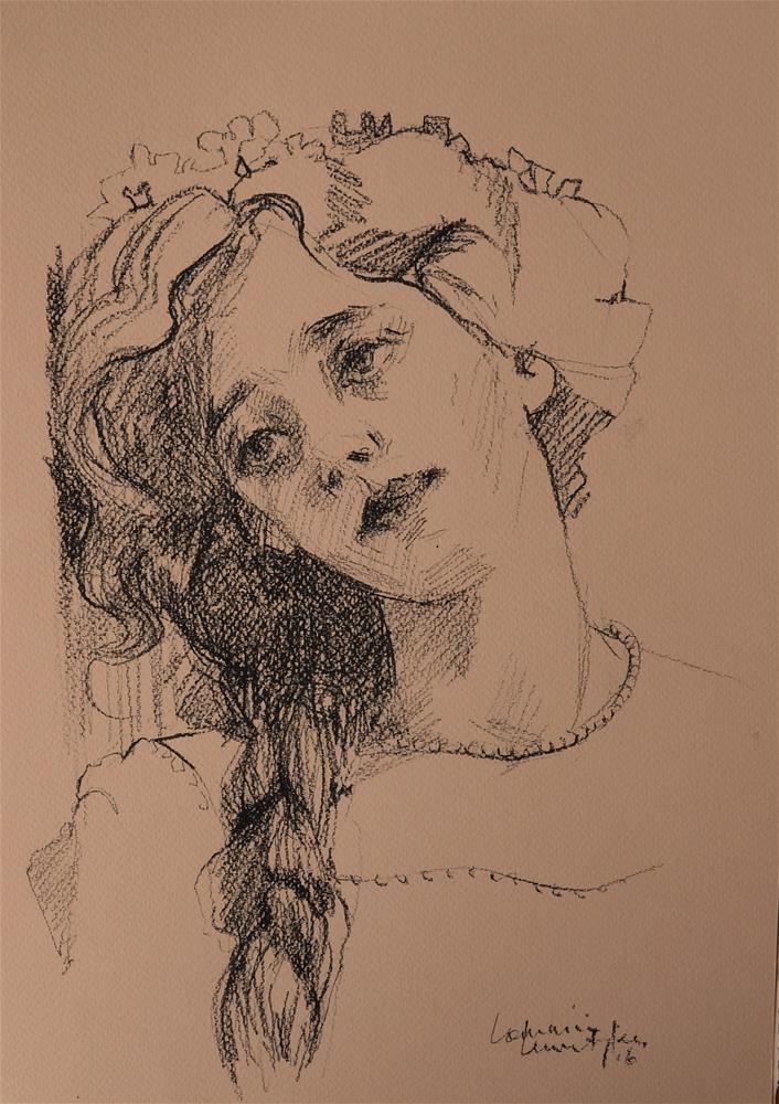 """Leaning"" original fine art by Lorraine Lewitzka"