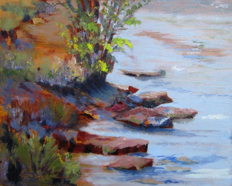 """Along The Shore"" original fine art by Norm Rossignol"