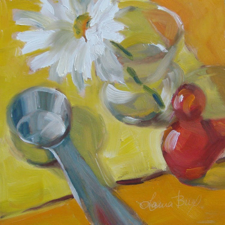 """Studio Friends 2 - 321"" original fine art by Laura  Buxo"