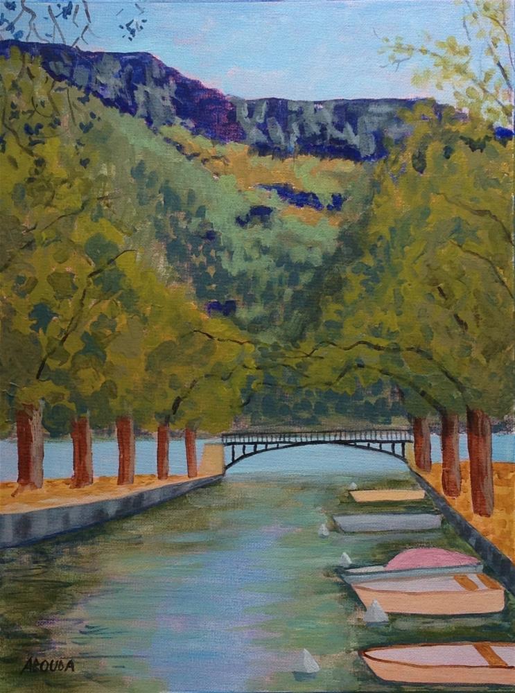 """""""Le Pont des Amours"""" original fine art by Sandy Abouda"""
