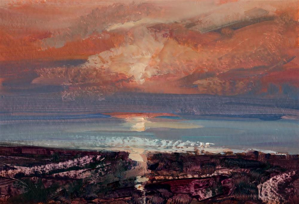 """""""Heacham Beach"""" original fine art by Anne Wood"""