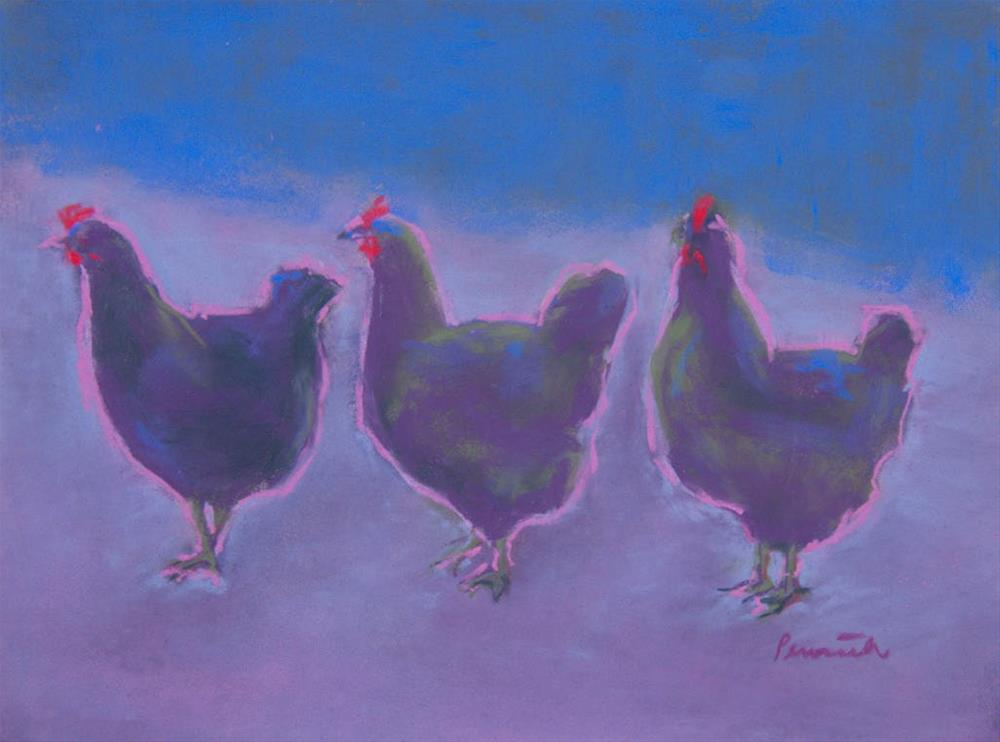 """The Line Up"" original fine art by Sarah Peroutka"