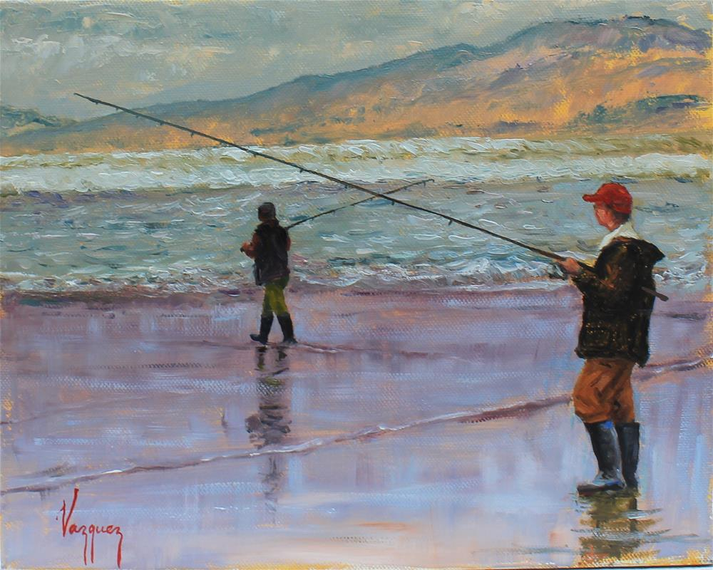 """Fishing"" original fine art by Marco Vazquez"