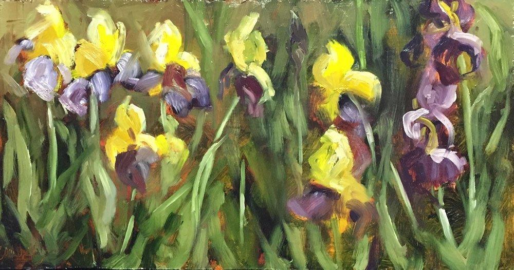"""""""Spring Lineup"""" original fine art by Carolynn Doan"""