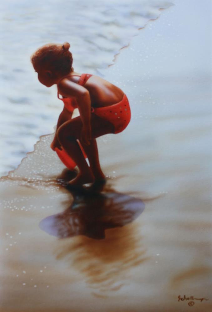 """""""Surf Girl"""" original fine art by Fred Schollmeyer"""