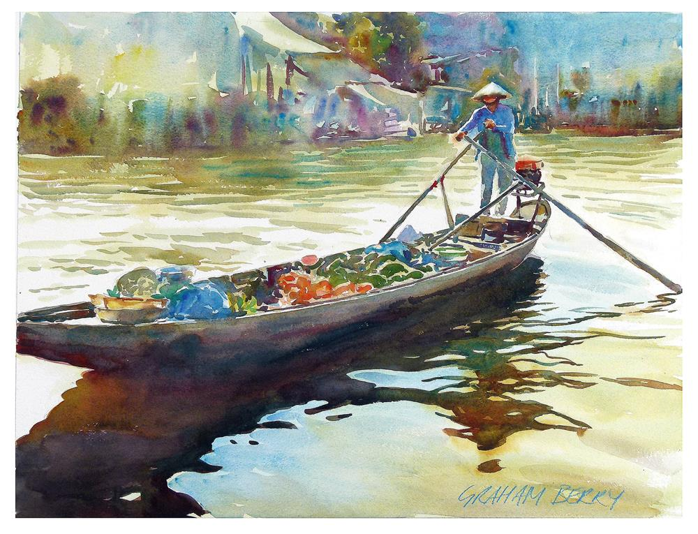 """Floating market"" original fine art by Graham Berry"