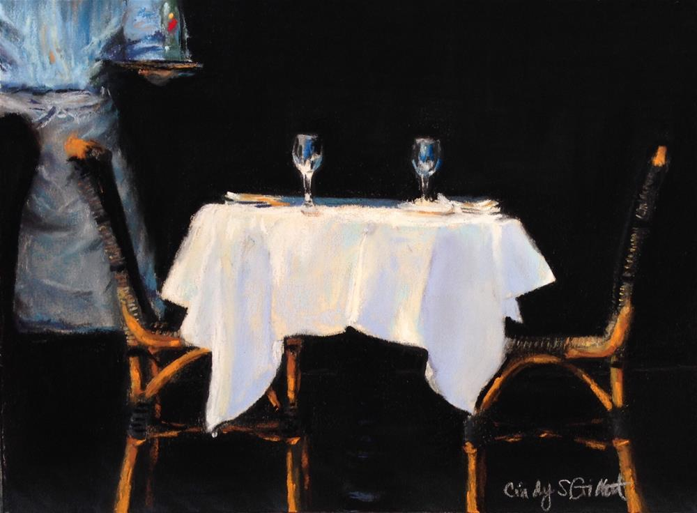 """A Table For Two"" original fine art by Cindy Gillett"