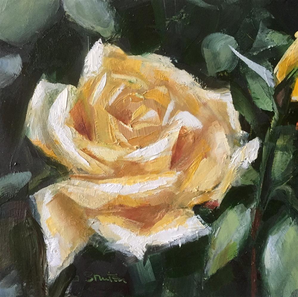 """Yellow Rose"" original fine art by Gary Bruton"