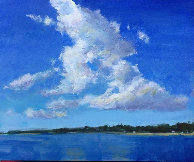 """Summer Skies, 8x10 inch Acrylic painting by Kelley MacDonald"" original fine art by Kelley MacDonald"
