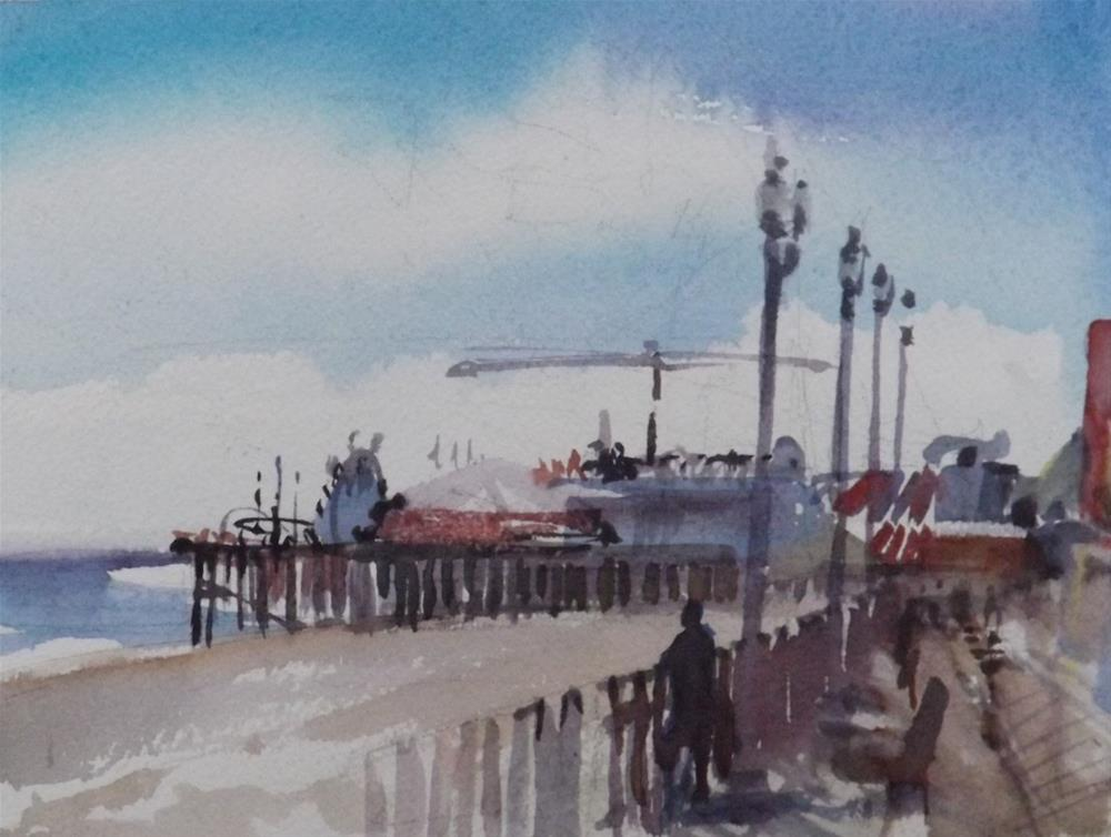 """Seaside N J Boardwalk"" original fine art by Cedar Kindy"