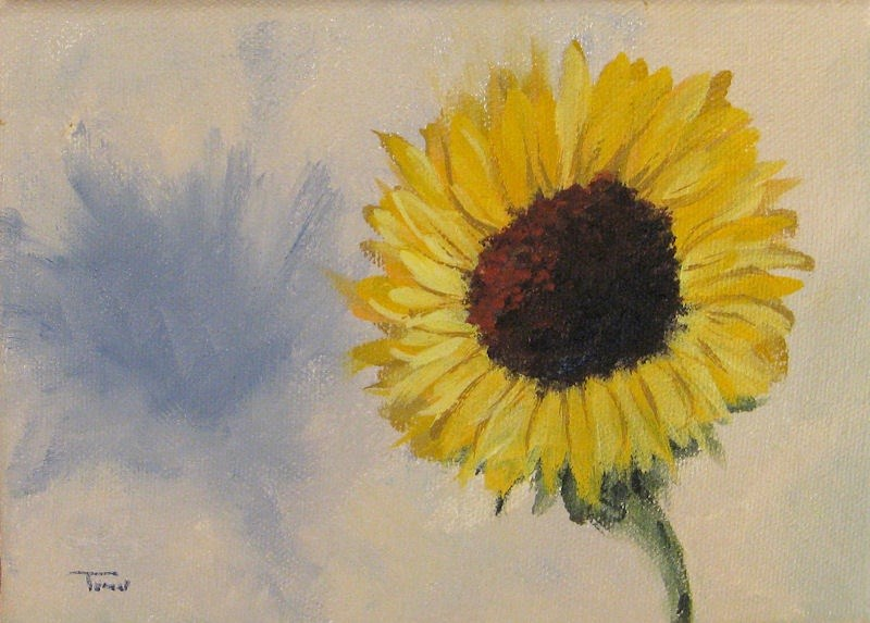 """Sunflower with Shadow"" original fine art by Torrie Smiley"