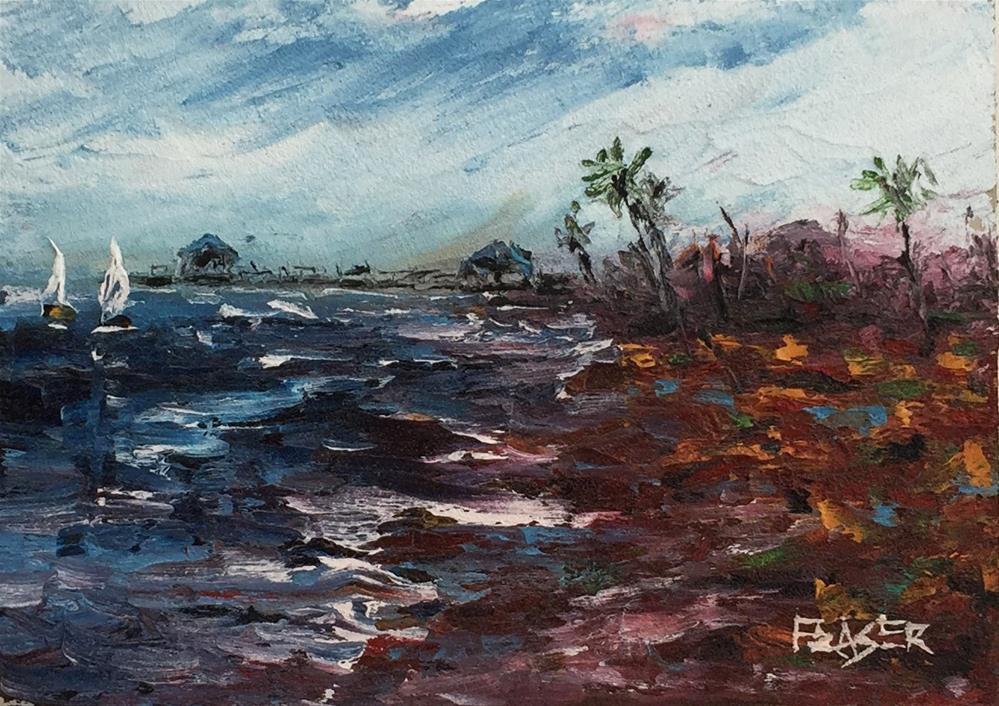 """Ocean Pier"" original fine art by Ken Fraser"