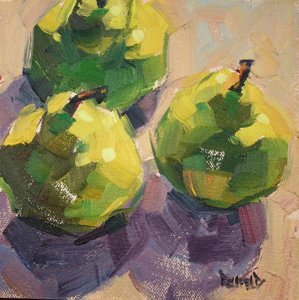 """Pear Fun"" original fine art by Cathleen Rehfeld"