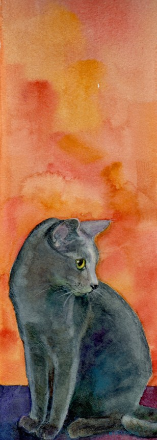"""Watercolor: Siri"" original fine art by Belinda Del Pesco"