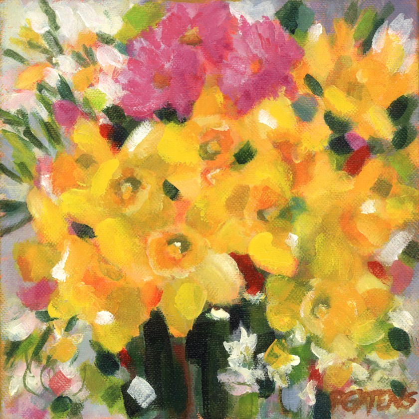 """Bright Daffodils"" original fine art by Pamela Gatens"