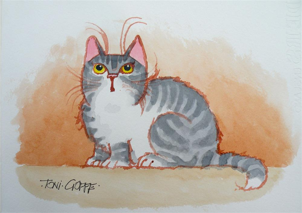 """What's Up?"" original fine art by Toni Goffe"