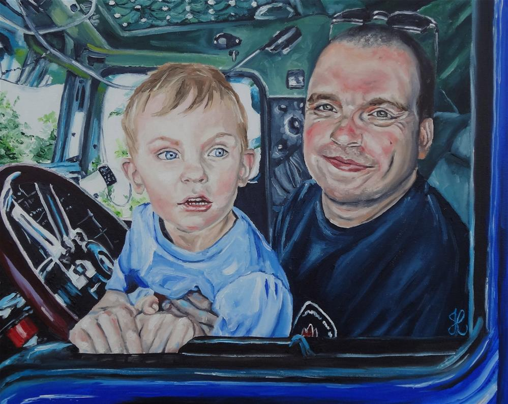 """Truck kings!"" original fine art by Jacinthe Rivard"