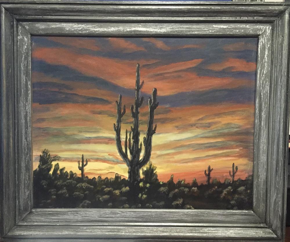 """Sunset in Arizona"" original fine art by Roger Johnson"