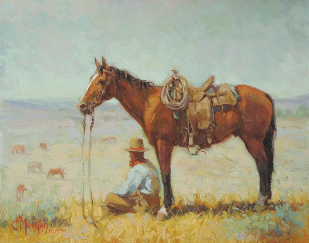 """Wrangler Memories #6"" original fine art by Cecile W. Morgan"