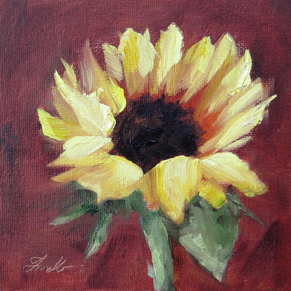 """Sunflower 1"" original fine art by Pat Fiorello"