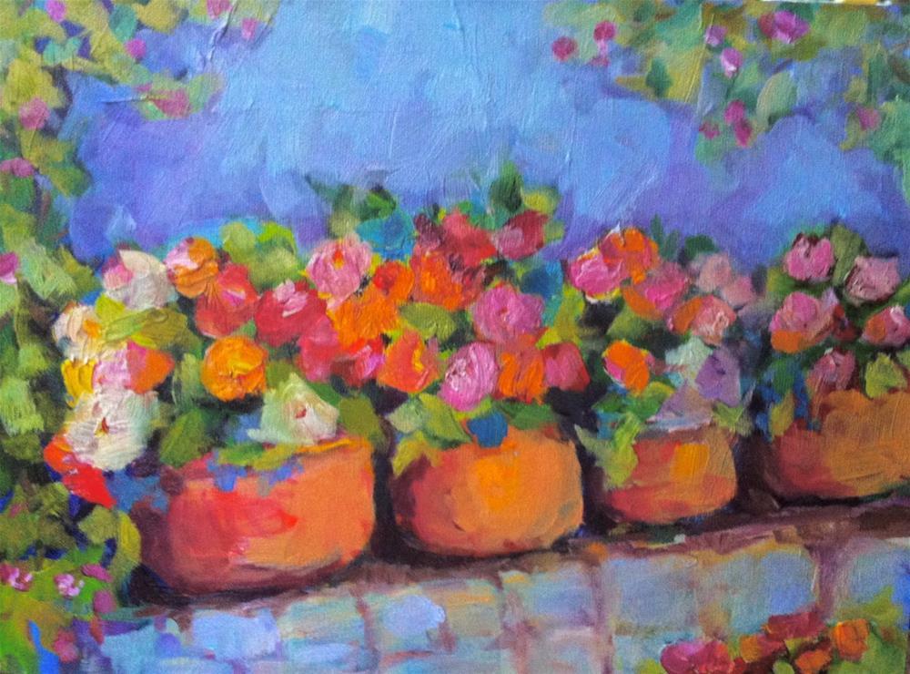 """""""Four Pots"""" original fine art by Ceci Lam"""