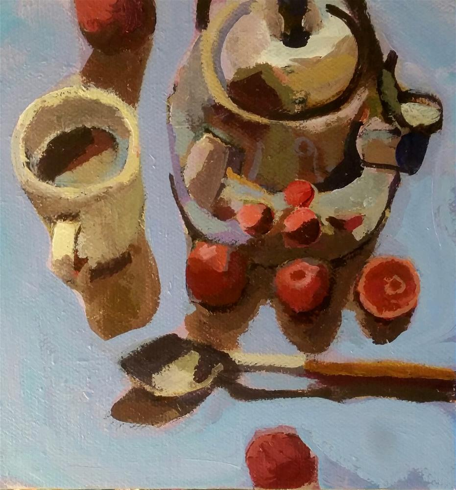 """Citrus by the Kettle"" original fine art by Liz Maynes"
