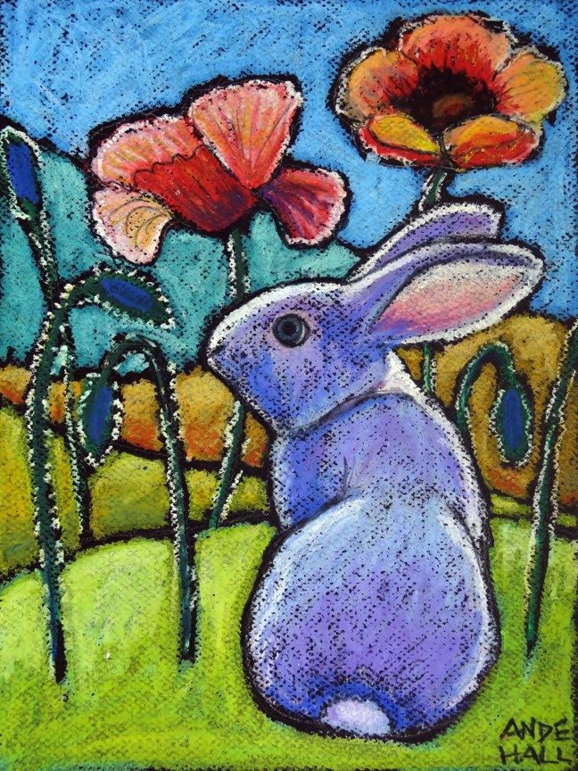 """Bunnytime"" original fine art by Ande Hall"