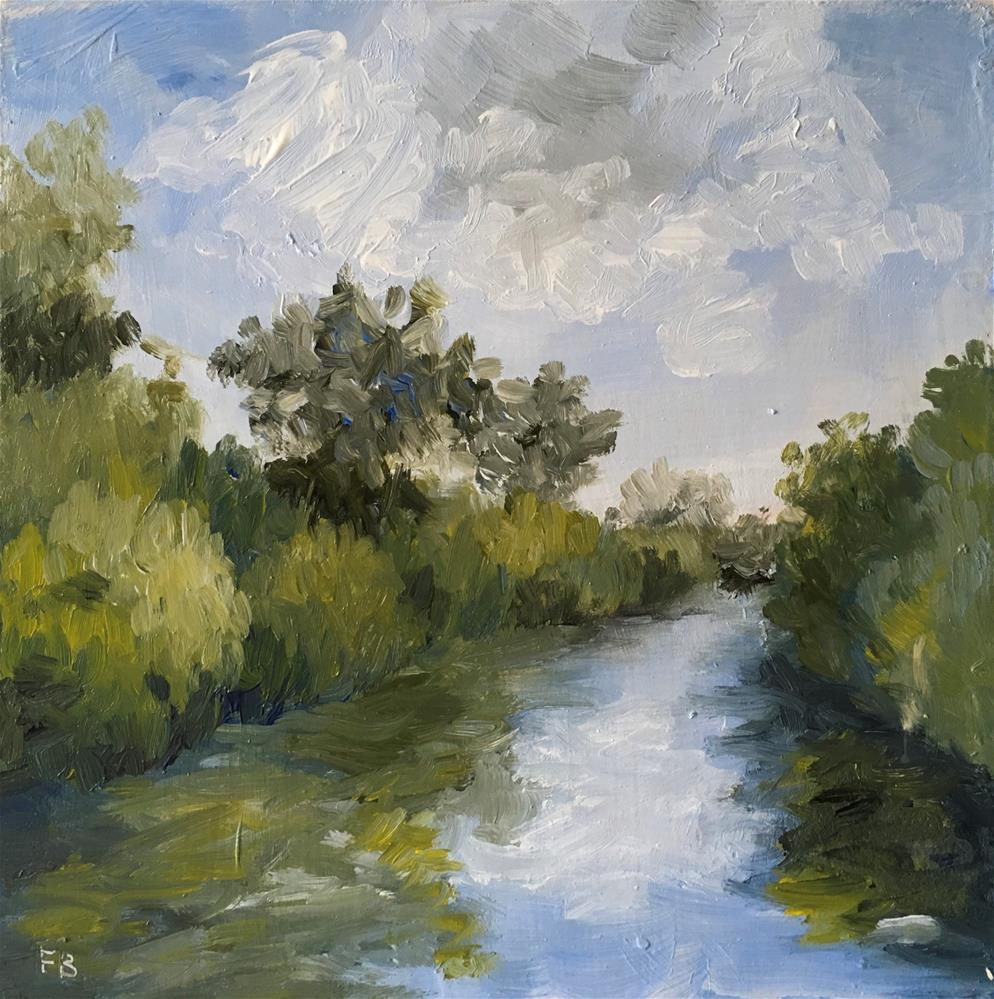 """""""249 The River"""" original fine art by Fred Bell"""