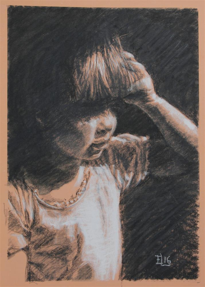 """Under the Fringe"" original fine art by Emilia Leinonen"