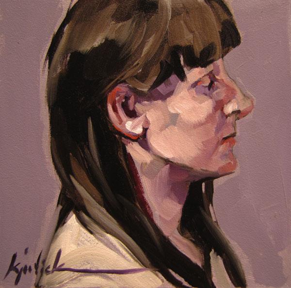 """100 Faces, No. 80"" original fine art by Karin Jurick"