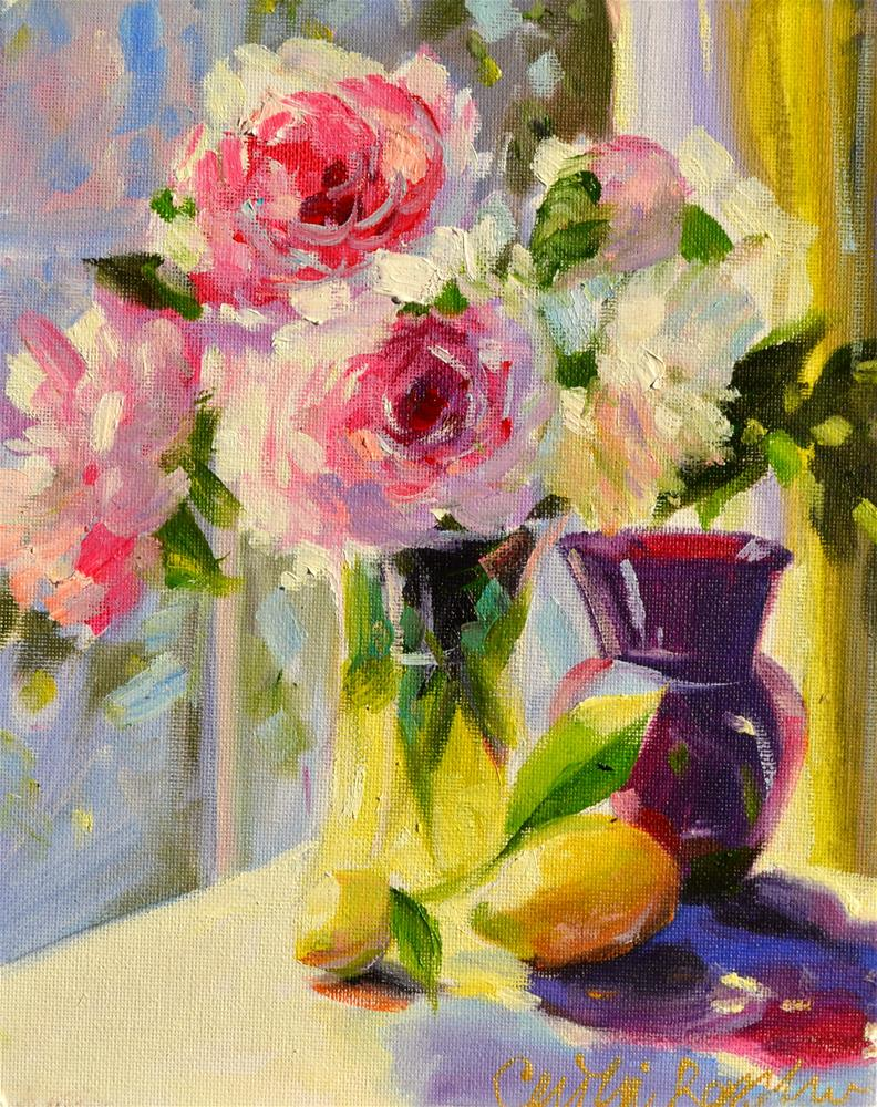 """""""ROSES"""" original fine art by Cecilia Rosslee"""