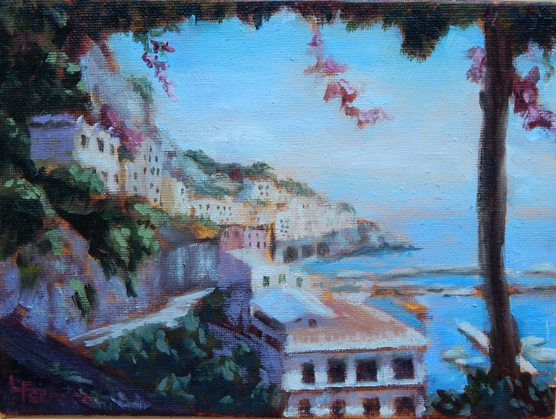 """On Capri"" original fine art by Lina Ferrara"