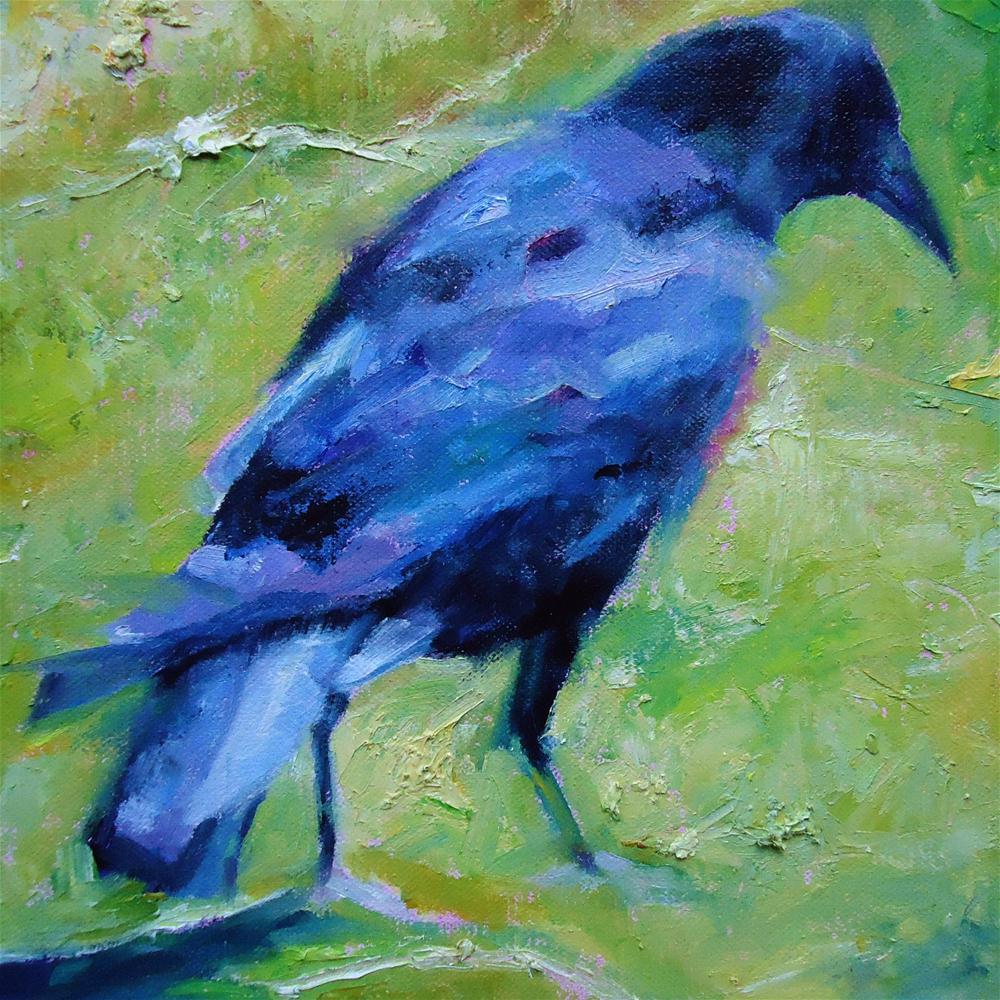 """Raucous Raven"" original fine art by Scarlet Owl Studio"