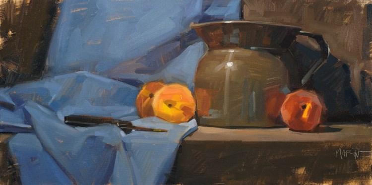 """Fredericksburg Peaches"" original fine art by Carol Marine"