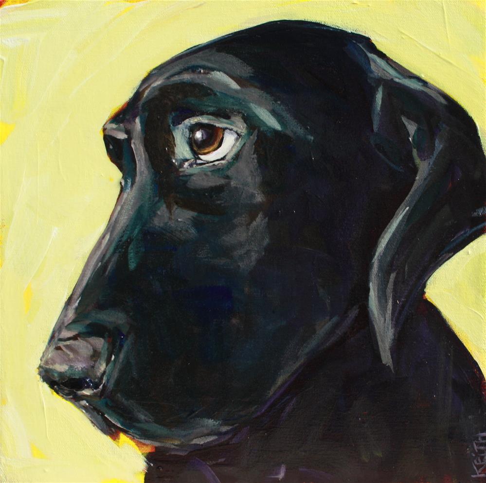 """Sad Puppy"" original fine art by Kandice Keith"