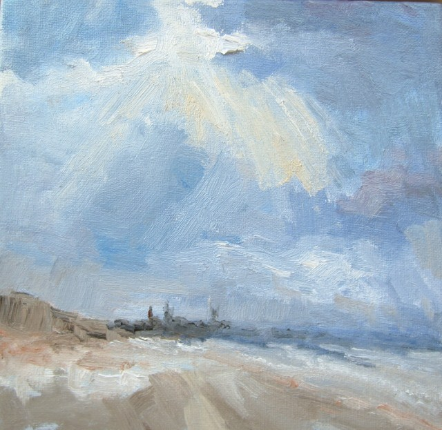 """Mont St.Michel France"" original fine art by Astrid Buchhammer"