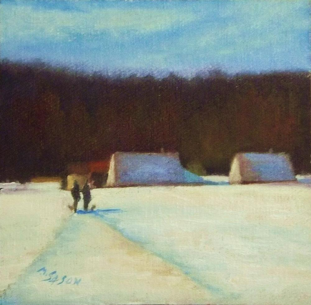 """Going out with the dogs"" original fine art by Michael Sason"