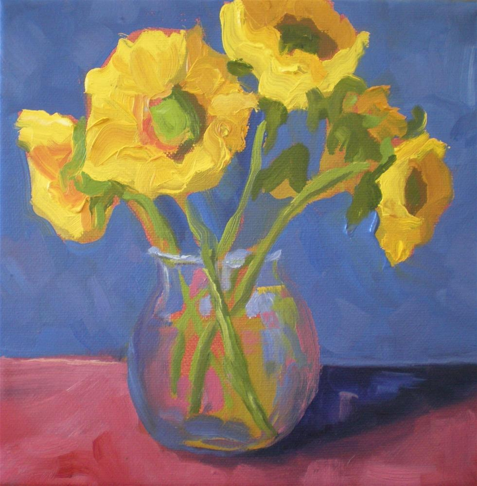 """Yellow Flowers"" original fine art by Loralee Chapleau"