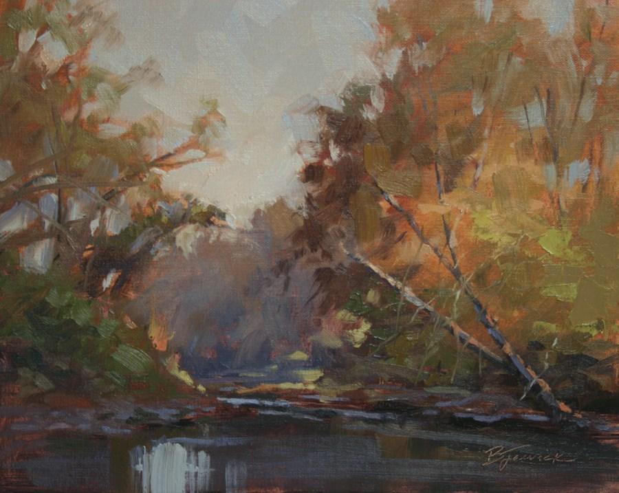 """Morning Glow"" original fine art by Barbara Jaenicke"