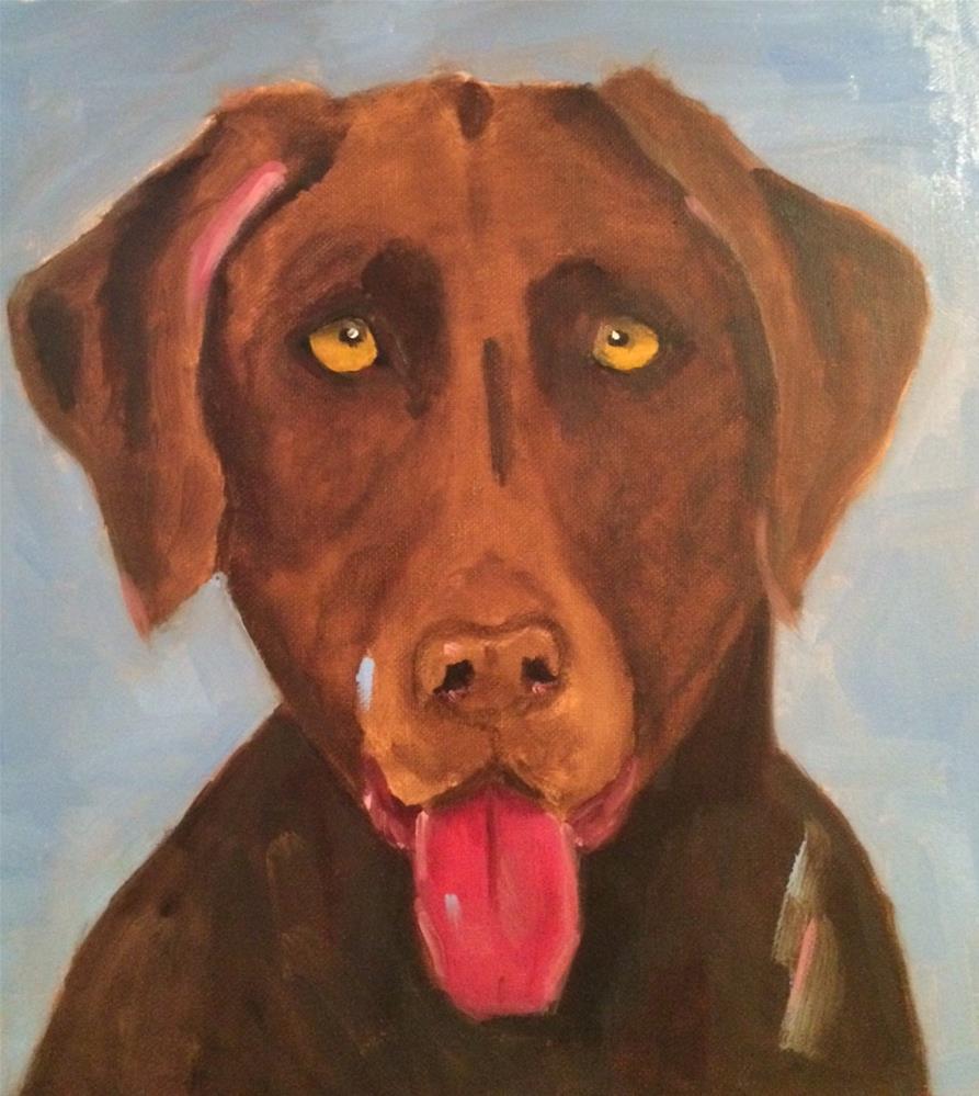 """""""Friends Dog"""" original fine art by Lorraine Funk"""